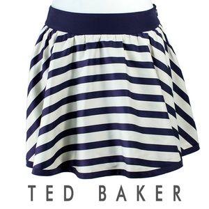 Ted Baker London Purple Stripe Skirt